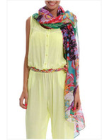 180*106 ladies fashion scarves - 2014Wholesalespain brand scarf fashion ladies Scarves wraps green desigual scarf large shawl women infinity silk scarf