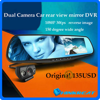 2014 All Brands Interior Mirror 4.3'' 1080P Blue Mirror G20 Car Rear View Mirrors DVR Camera + GPS Logger Dual Camera Car DVR Camcorder Reversing Camera