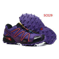 Wholesale Sports Shoes for Women Female Sneakers Salomon Shoes Speedcross Running Shoes Casual Shoes Exercising Footwears Purple Shoes