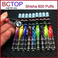 Shisha pen DHL/UPS/EMS/China Post Mix Color Electronic Cigarette Disposable Ehookah Portable E Shisha Pen 800 puffs Metal Tip E-hookah E-shisha 10 Flavor Ego E Cig E Cigarette By DHL