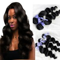 Brazilian Hair Loose Wave  Virgin Hair malaysian brazilian loose wave 3or4 bundles lot queen hair products ,100% unprocessed raw human hair extensions