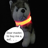 Wholesale Pet supplies for small dogs LED flash light luminous glow dog pet collar dog leash dog harness products for animals