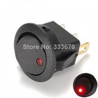 Wholesale 5x New Red V LED Dot Light Car Auto Boat Round Rocker Pin ON OFF SPST Switch