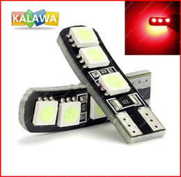 30pcs lot Led T10 Canbus No Error 168 2825 194 2827 6SMD W5W For Car Light Lamps License Plate light (RED) FREESHIPPING GGG