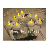 Wholesale 1Set of Waterproof Christmas Floating Flameless LED Tealight Tea Candles Light for Wedding Birthday Party Decoration Lamp