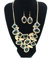 Wholesale Europe and the United States exaggerate alloy necklace Shells of Marine series big resin necklace