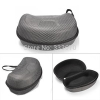 Wholesale 2014 New Design Mesh Hard Protector Bag Case For Winter Sports Ski Motorcycle Snowmobile Goggles Black With Silver Colour