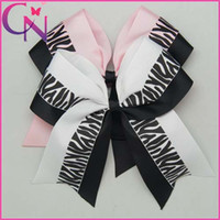 Wholesale Inch Large Hair Cheer Bow ponytail holder Cheerleading hair bows24pcs colors availableCNEHB