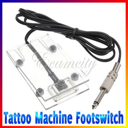 Wholesale Transparent Acrylic Anti skid Tattoo Machine Footswitch Power Supply Foot Pedal Controller