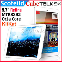 Under $200 Cube TALK9X Cube Talk 9X Phablet Phone Tablet MTK8392 Octa Core 9.7 Inch Retina Touch Screen 2048*1536 3G Android Tablet PC 2G 16G Android 4.4 KitKat