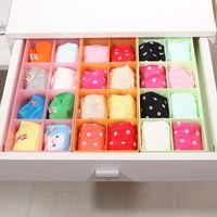 Plastic locker - Candy Color Underwear Storage Boxes Socks Box in Box princess Locker Classification Accessories Storage Box Table Organizer Box