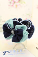 Barrettes & Clips Hair rope 4321 M butterfly bow custom high-end crystal embellishment matte texture chiffon fabric hair accessories hair ring hair rope headdress