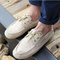 Wholesale 2014 New Arrival Canvas Shoes For Man Korea Style Fashion Straw Shoes XMR015