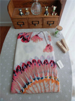 Wholesale Indian trade of the original single feather cotton scarf shawl summer sun sun Bohemian oversized scarves women