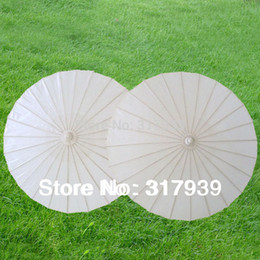Wholesale white Wedding Umbrella paper wedding parasols for groom