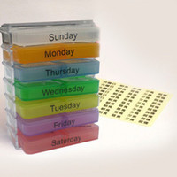 Pill Cases & Splitters F-PillBox  Weekly Medicine Storage Organizer Container Case 7 Day Tablet Pill Boxes