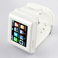 Wholesale 2014 New Unlocked Micro Touch Screen Wrist Watch Phone Brand GSM GPRS Cell Phone AT T Mobile Phone With Bluetooth MP3 Player