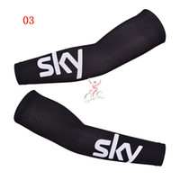 Arm Warmers arm sleeves - Sky Cycling Arms Cover Pro Bike Team Sun Protection Cooling Arms Warmer Athletic Sports Quick Dry Arm Sleeves High Class Lycra Spandex