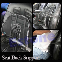 Seat Covers & Supports D7569 Red Wholesale-Free Shipping New Cool Vent Massage Cushion Mesh Back Lumber Support Office Chair Car Seat Pad