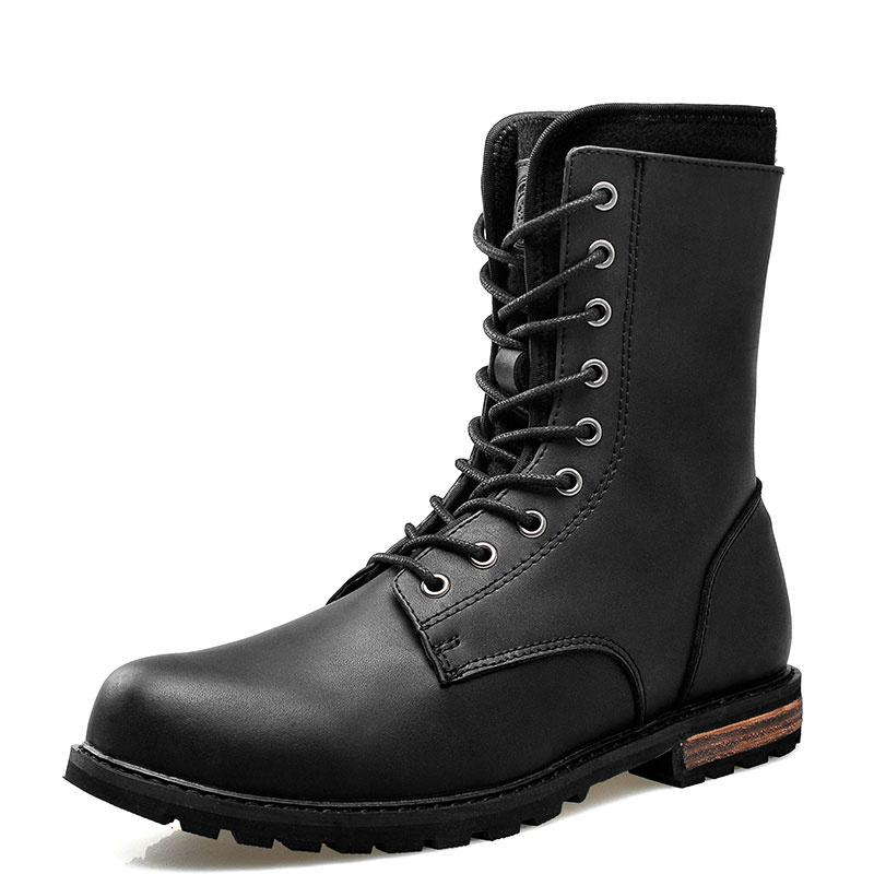 2015 Cowboy Boots Black Boots Winter Boots Mens Boots Leather ...