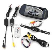 "Cheap New 7"" Car LCD Monitor Mirror + Wireless Reverse Car Rearview Backup Camera Kit"