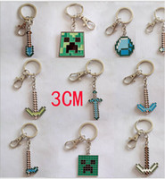 Wholesale 2014 NEW Cute kawaii kids MC TNT minecraft key chain sheep party Game play minecraft keychain