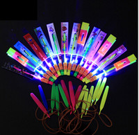 Wholesale Kids toys led Flying Umbrella arrow amazing arrow flying arrow LED helicopter