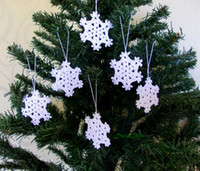 Wholesale Set of Handcrafted Crochet Christmas Ornaments Accept custom color As003