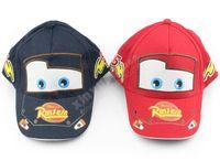 Wholesale Pixar cars Pixar car Hat Kid Child Hats Baseball cap red and blue
