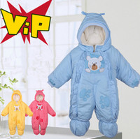 Wholesale 2014 newborn baby rompers fleece jumpsuits overalls wadded jacket cotton padded clothing infant year autumn and winter child romper