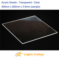 Wholesale 2pcs Acrylic PMMA Plexiglass Sheets mm x mm x mm Transparent Clear