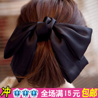 Barrettes & Clips Top clip Watermelon red and black burgundy dark g South Korea imported genuine hair accessories exaggerated oversized satin bow hairpin hairpin head flower top spring clip