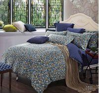 100% Cotton Woven Adult Egyptian cotton luxury polka dot bedding comforter set king queen size duvet cover bedspread bed in a bag sheets bedroom designer quilt
