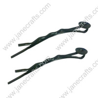 bobby pins with pad - 46mm Metal Black Bobby Pins with Gluing pad Pin Hair Clip for Fshion Jewellery Accessory