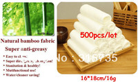Wholesale 500pcs No Need Detergent bamboo fiber washing dishcloth Magic Multi function dish towel