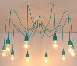New net Retro classic chandelier 10 E27 spider lamp pendant bulb holder group Edison diy lighting lamps lanterns accessories messenger wire
