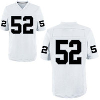 Football Men Short Cheap Stitched Jerseys American Football Raiders #52 Khalil Mack White Elite Jerseys 2014 Hot Sale High Quality Best Sportswear