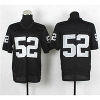 Football Men Short Cheap Elite Stitched Jerseys Cheap #52 Khalil Mack Black Football Jerseys High Quality American Football Mens Football Uniform