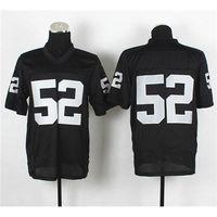 Football Men Short Cheap Elite Stitched Jerseys Raiders #52 Khalil Mack Black Football Jerseys High Quality American Football Mens Football Uniform