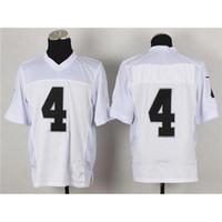 Wholesale Derek Carr Jerseys Cheap White Elite Authentic American Football Jerseys Stitched Sport Jerseys Team New Footbal Kits