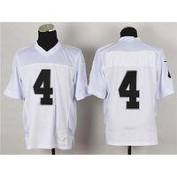 Wholesale Derek Carr Jerseys Cheap On Field White Elite Authentic American Football Jerseys Stitched Sport Jerseys Team New Footbal Kits