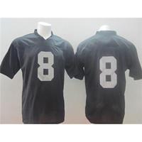 Football Men Short Cheap Matt Schaub Jerseys Raiders #8 Black Elite Football Jerseys 2014 New Season High Quality Stitched American Football Jersey