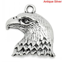 Charms silver eagle - Charm Pendants Eagle Animal Antique Silver x19mm K03852