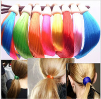 Wholesale New Fashion Multicolour Wig Headbands elastic hair rope Hairties Women Hair Accessories