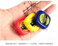 steel tape measure - Mini M Tape Measures Small Steel Ruler Portable Pulling Rulers With Key Chain Gauging Tools