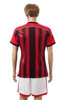 Soccer Men Short 14 15 AC Milan Away Yellow Soccer Uniforms Kits Cheap Club Team Soccer Shirts High Quality Men's Jerseys with Shorts Brand Sports Jerseys