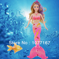 Wholesale Hot Sale Cheap Beautiful Lovely Mermaid Doll Toys For Girls gift princess doll with sofa furniture as gift
