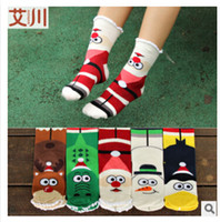 Wholesale 5 colors new Winter children socks baby thickening loop pile christmas series thermal socks combed cotton cartoon socks frozenc420 pairs