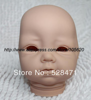 "Unisex Birth-12 months Vinyl Wholesale-Reborn Baby doll kits very soft Silicone Vinyl head 3 4 arms legs for 20-22"" lifelike dolls kit Sadie SR-1037"