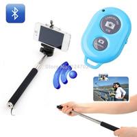 Lightweight Monopods Aluminum Alloy 168 Selfie Stick Extendable Handheld Monopod+Clip Holder+Bluetooth Camera Shutter Remote Control for Samsung Galaxy S5 i9600 i9500